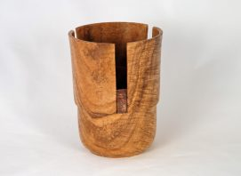 Custom Black Gum Burl Vase